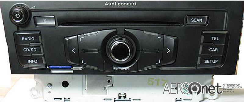 autoradio audi riparazione autoradio audi concert cq ja1774g. Black Bedroom Furniture Sets. Home Design Ideas